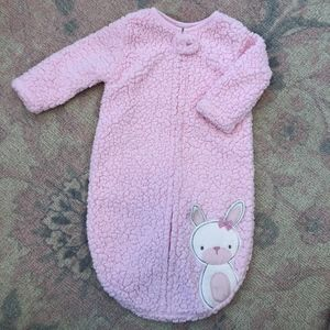 Chickpea Pink Sherpa Zip Up Gown 3-6 months